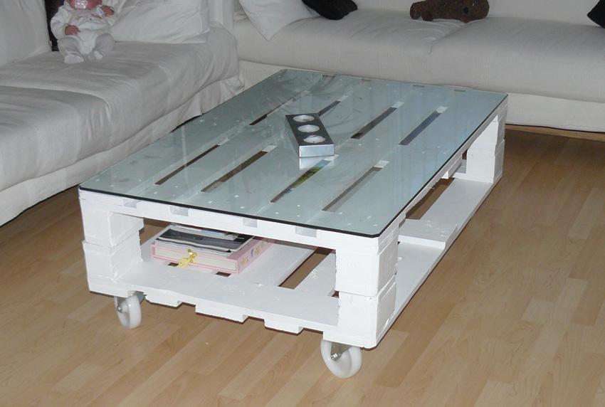 Mesa palet 4 decoraci n con madera for Muebles de palets para salon