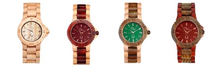 Reloj Tibú, reloj de madera