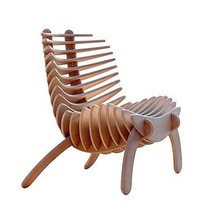 Sillas modernas ii decoraci n con madera Modelos de sillas de madera modernas