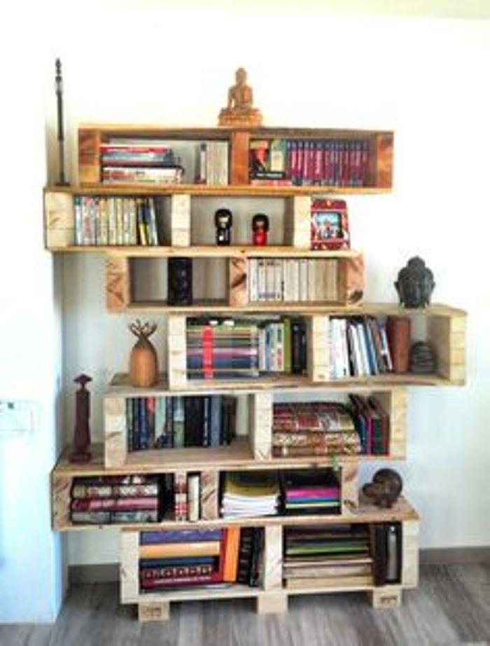 Recicla un palet estanter a decoraci n con madera - Estanteria con palets ...