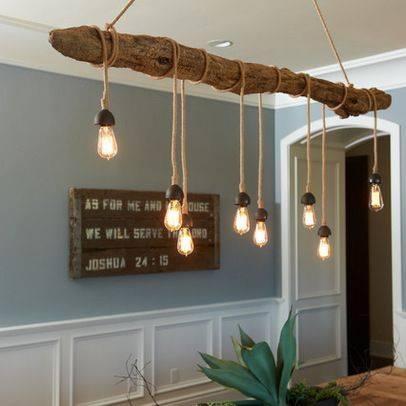 Lamparas de techo sencillas decoraci n con madera - Lamparas de pasillo ...