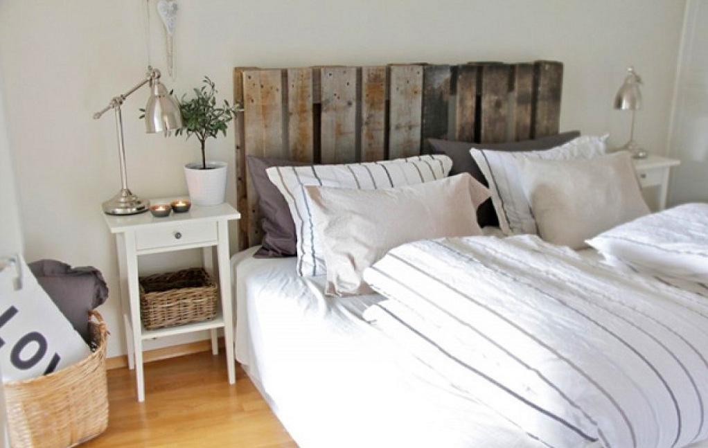 Muebles con palets cabecero de cama decoraci n con madera - Cabeceros de cama con palets ...