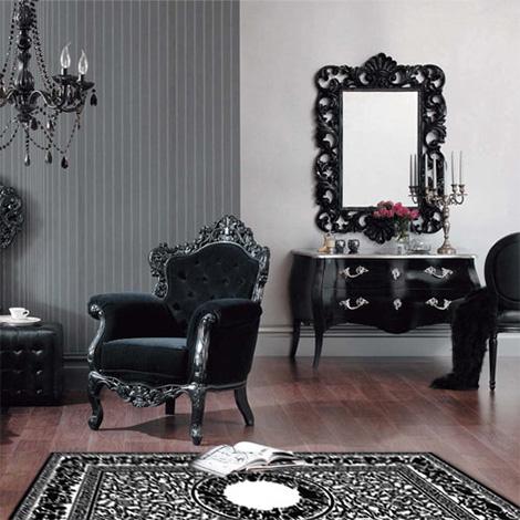 Decoración barroca en negro