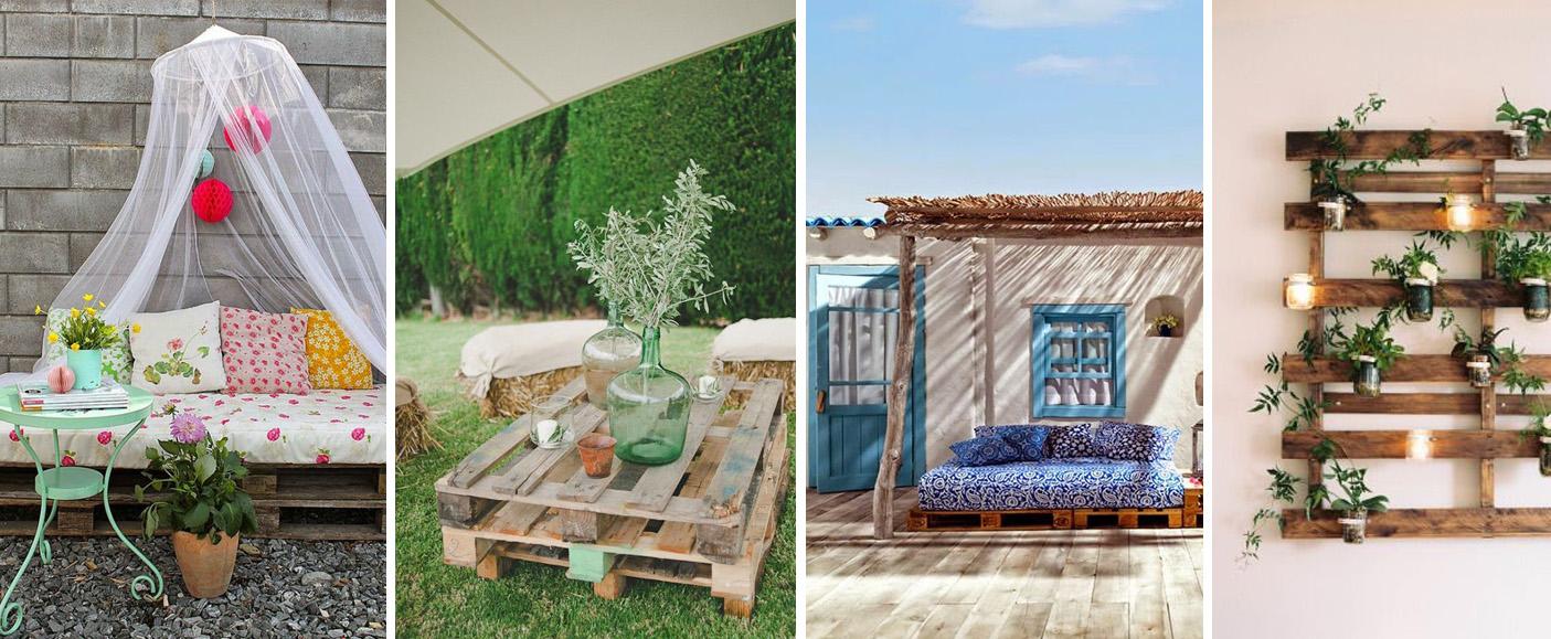 Decora tu jard n con reciclaje de madera decoraci n con for Reciclaje para jardin