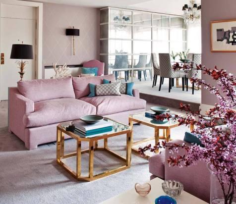 Estilo Rococó en rosa
