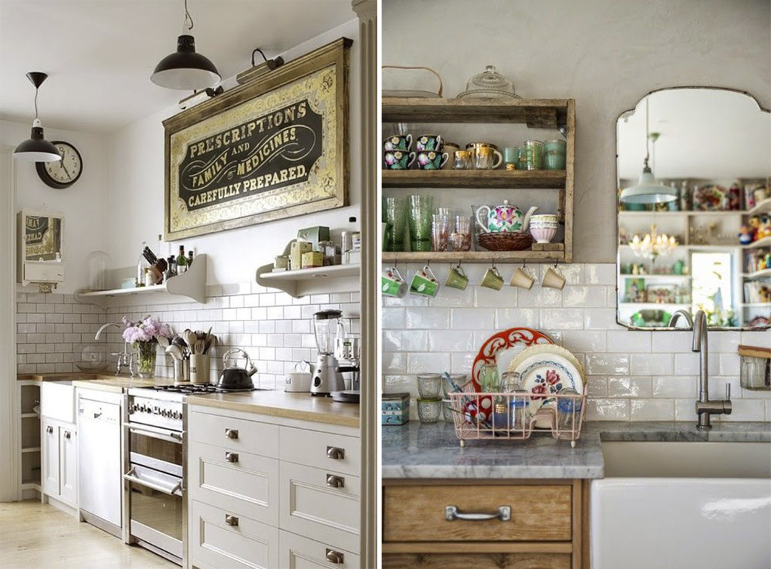 Decora tu cocina al estilo vintage decoraci n con madera - Muebles de cocina estilo retro ...