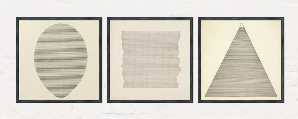 Obra de la pintora abstracta Agnes Martin