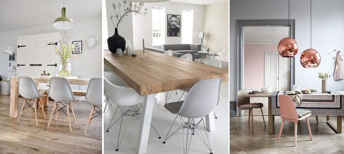 Blanco, madera y metal para tu comedor n�rdico
